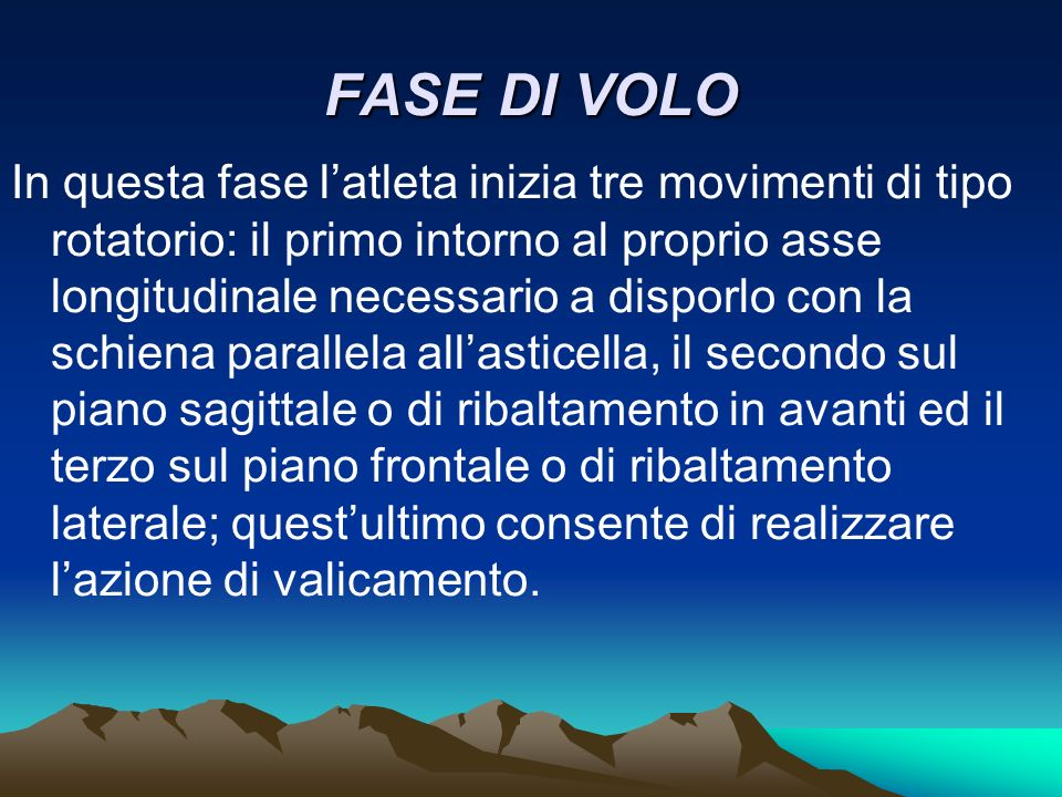 FASE DI VOLO