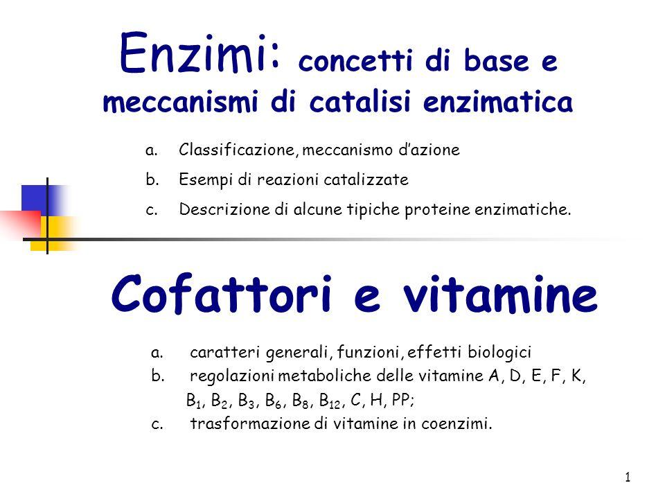 Enzimi: concetti di base e meccanismi di catalisi enzimatica