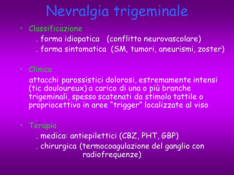 Nevralgia trigeminale