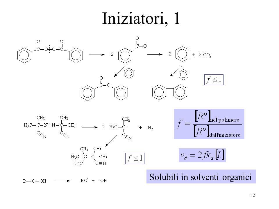 Iniziatori, 1 Solubili in solventi organici
