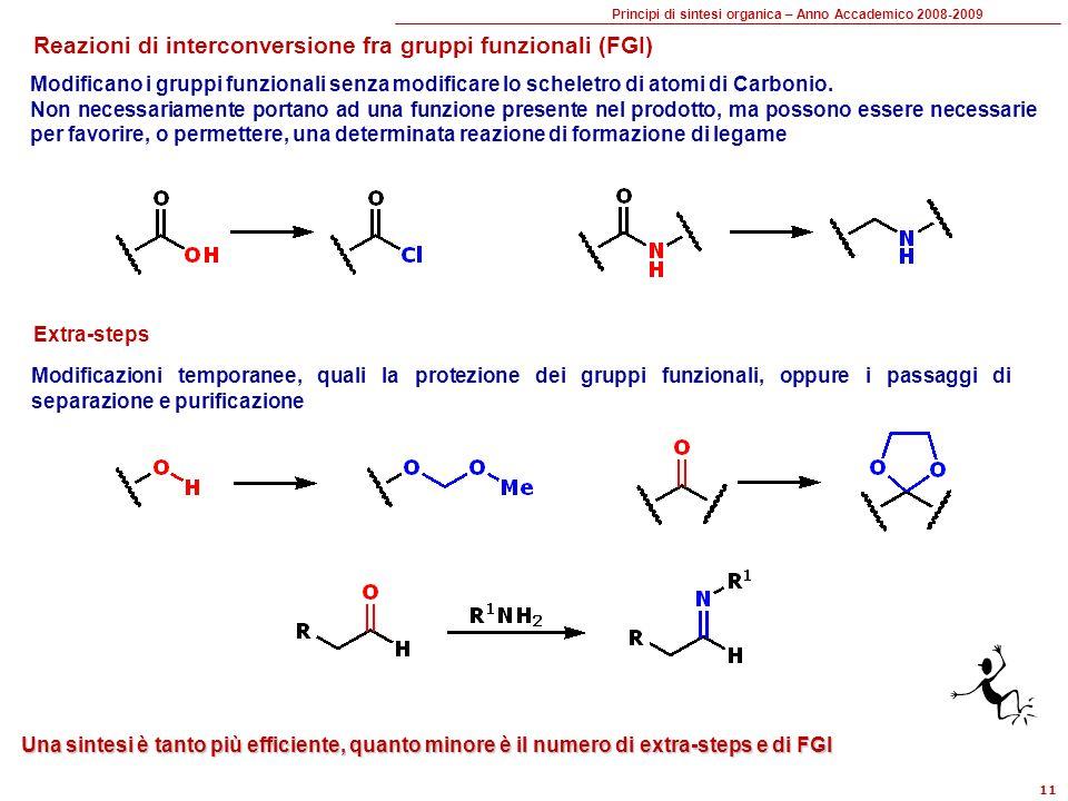 Reazioni di interconversione fra gruppi funzionali (FGI)