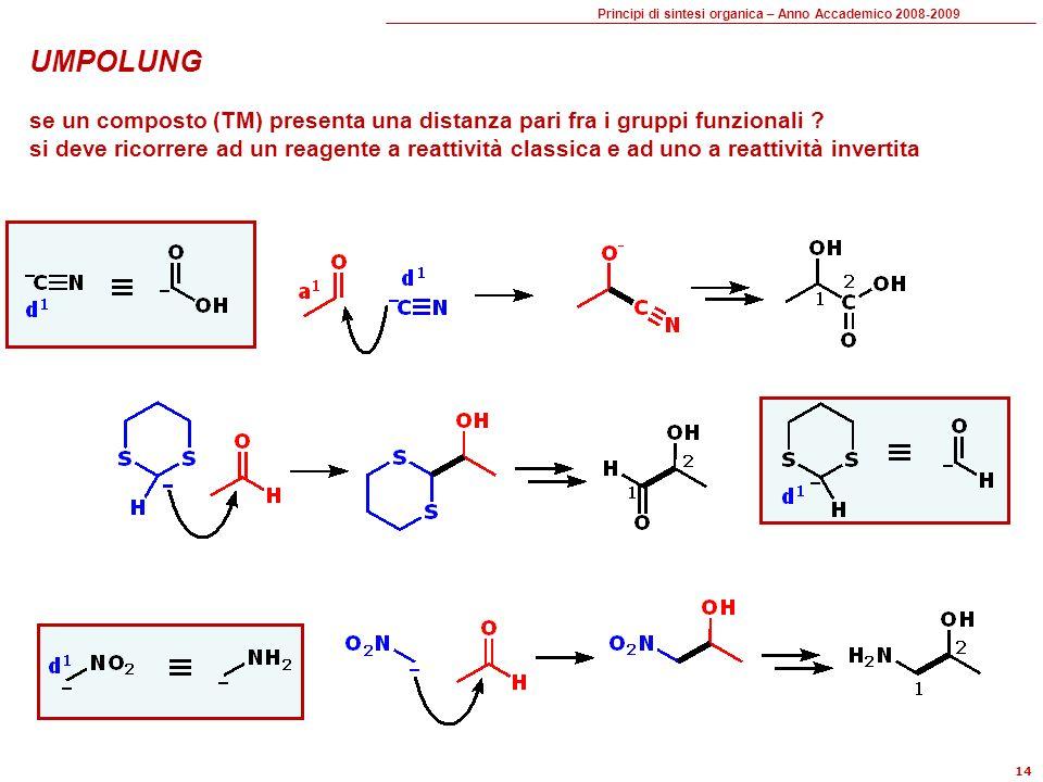 UMPOLUNG se un composto (TM) presenta una distanza pari fra i gruppi funzionali