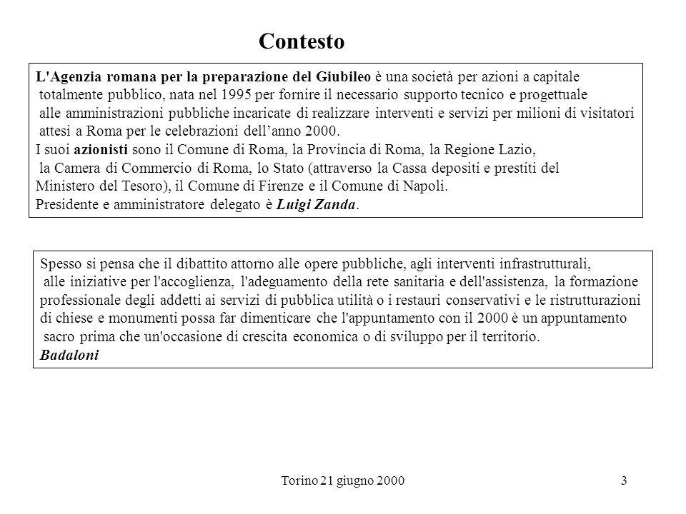 Contesto L Agenzia romana per la preparazione del Giubileo è una società per azioni a capitale.