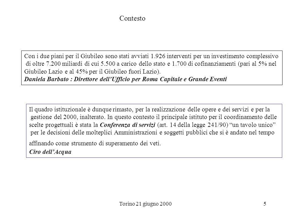 Contesto Con i due piani per il Giubileo sono stati avviati 1.926 interventi per un investimento complessivo.