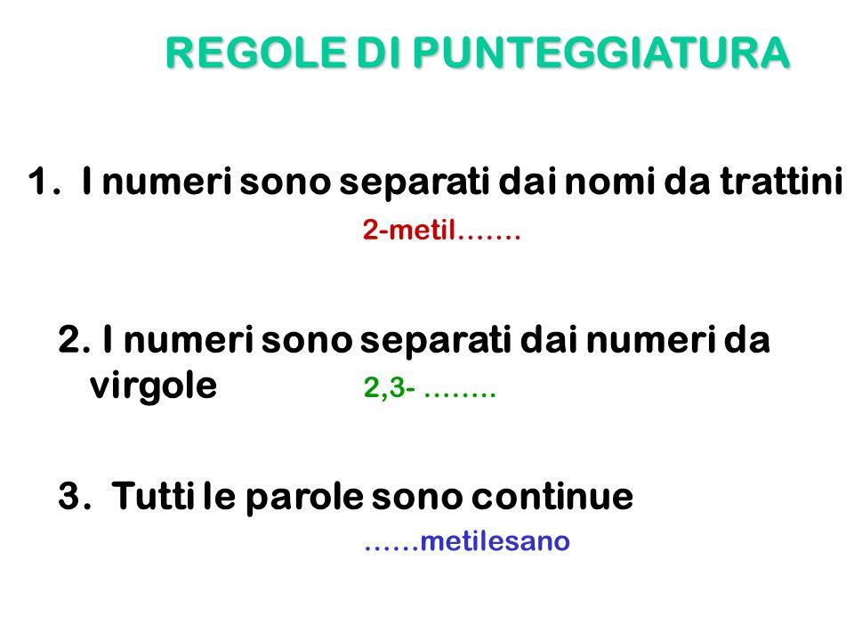 REGOLE DI PUNTEGGIATURA
