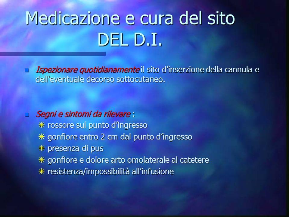 Medicazione e cura del sito DEL D.I.
