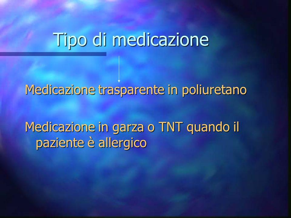 Tipo di medicazione Medicazione trasparente in poliuretano