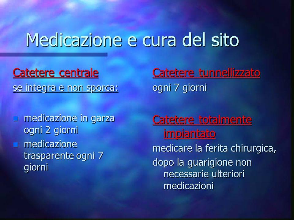 Medicazione e cura del sito