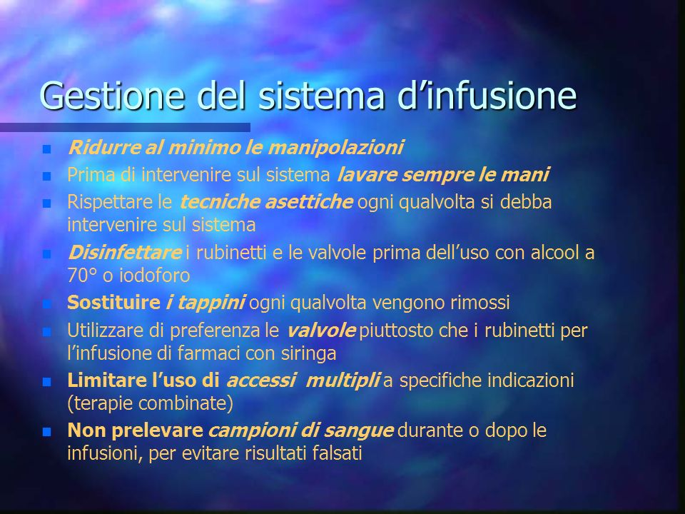 Gestione del sistema d'infusione