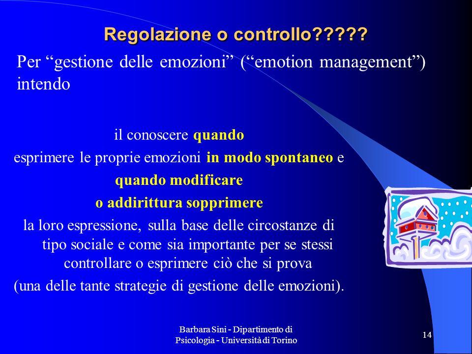 Regolazione o controllo