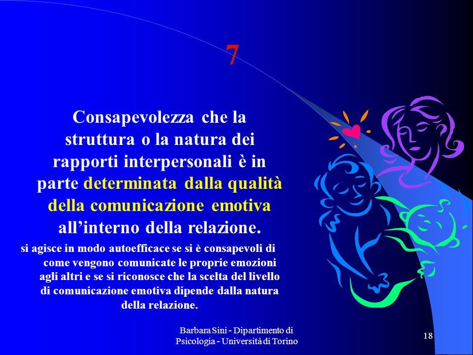 Barbara Sini - Dipartimento di Psicologia - Università di Torino