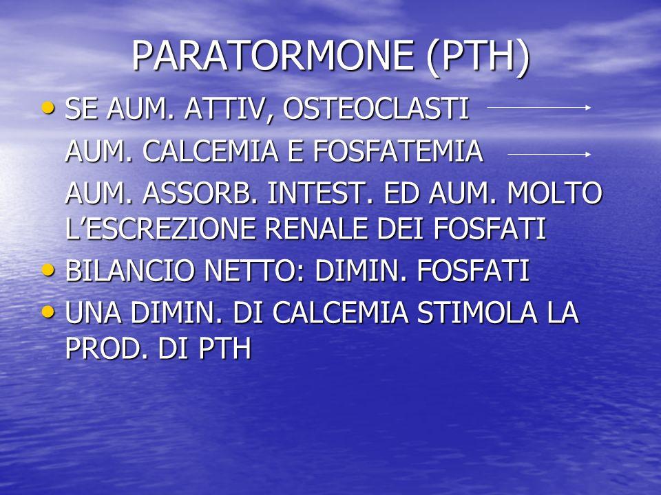 PARATORMONE (PTH) SE AUM. ATTIV, OSTEOCLASTI
