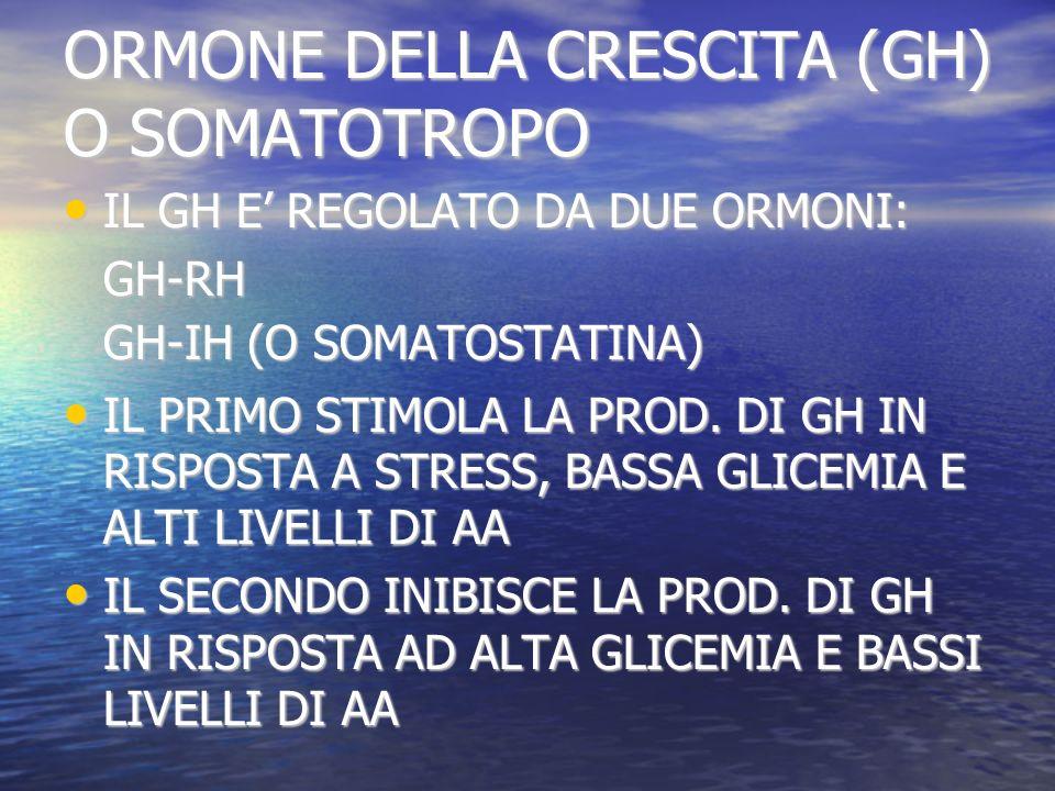 ORMONE DELLA CRESCITA (GH) O SOMATOTROPO
