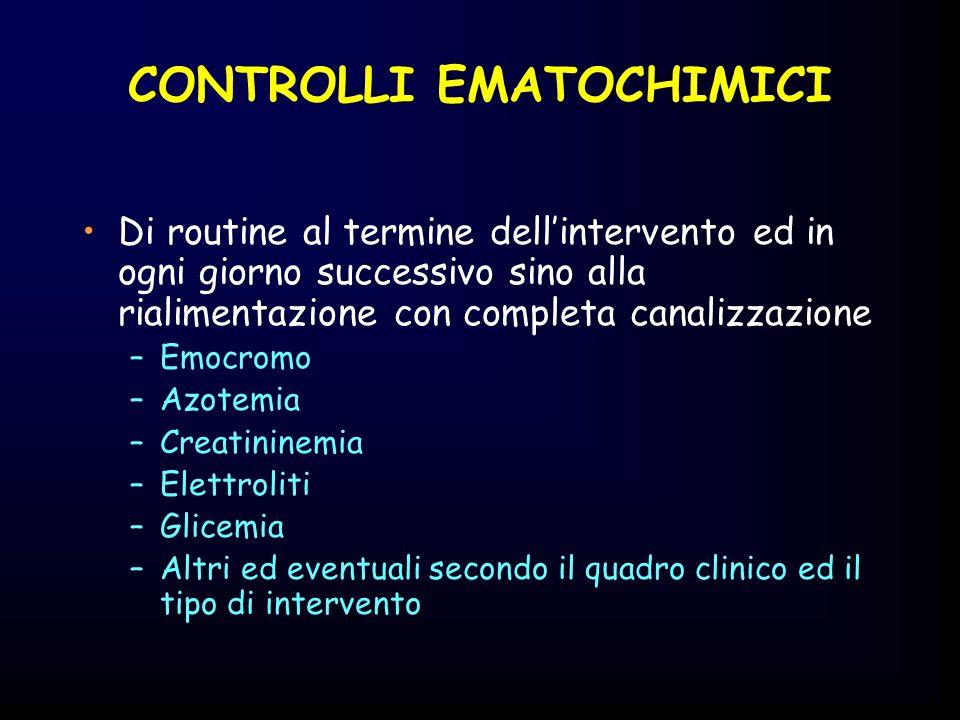 CONTROLLI EMATOCHIMICI