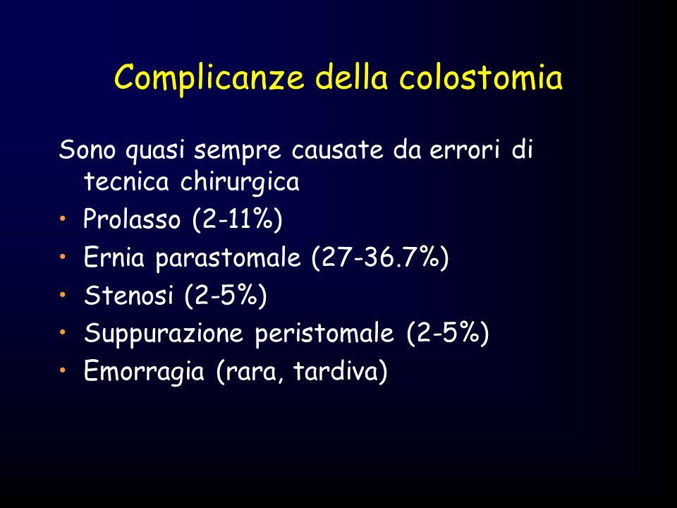 Complicanze della colostomia