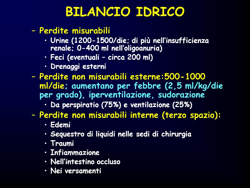 BILANCIO IDRICO Perdite misurabili