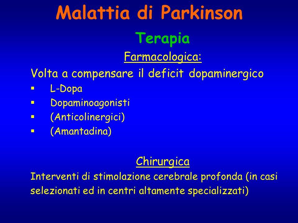 Malattia di Parkinson Terapia Farmacologica: