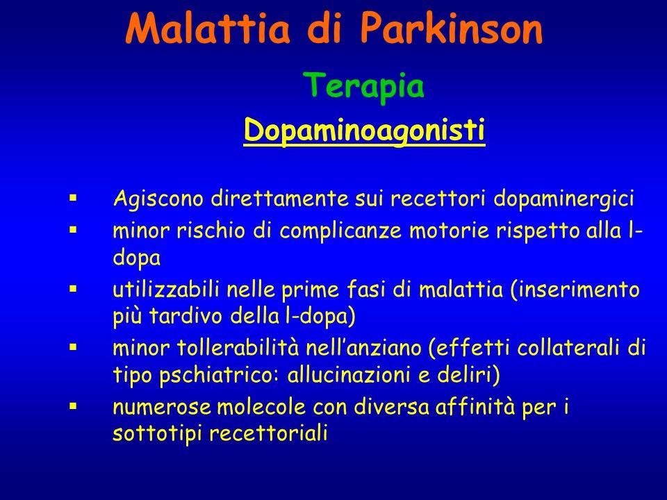 Malattia di Parkinson Terapia Dopaminoagonisti