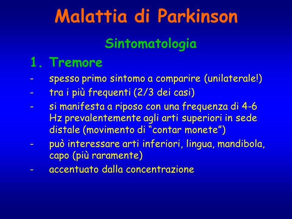 Malattia di Parkinson Sintomatologia Tremore
