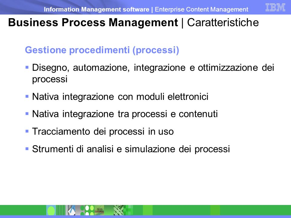Business Process Management | Caratteristiche