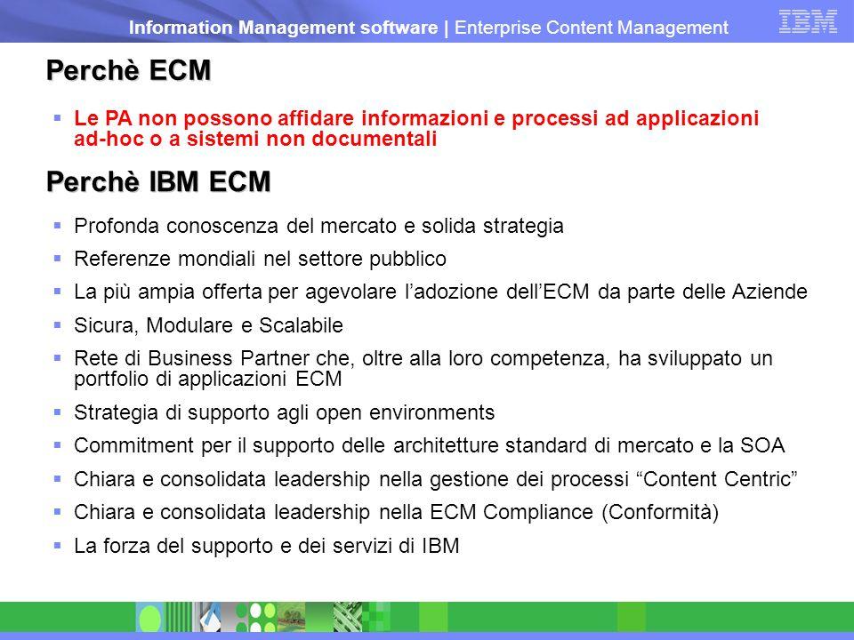 Perchè ECM Perchè IBM ECM