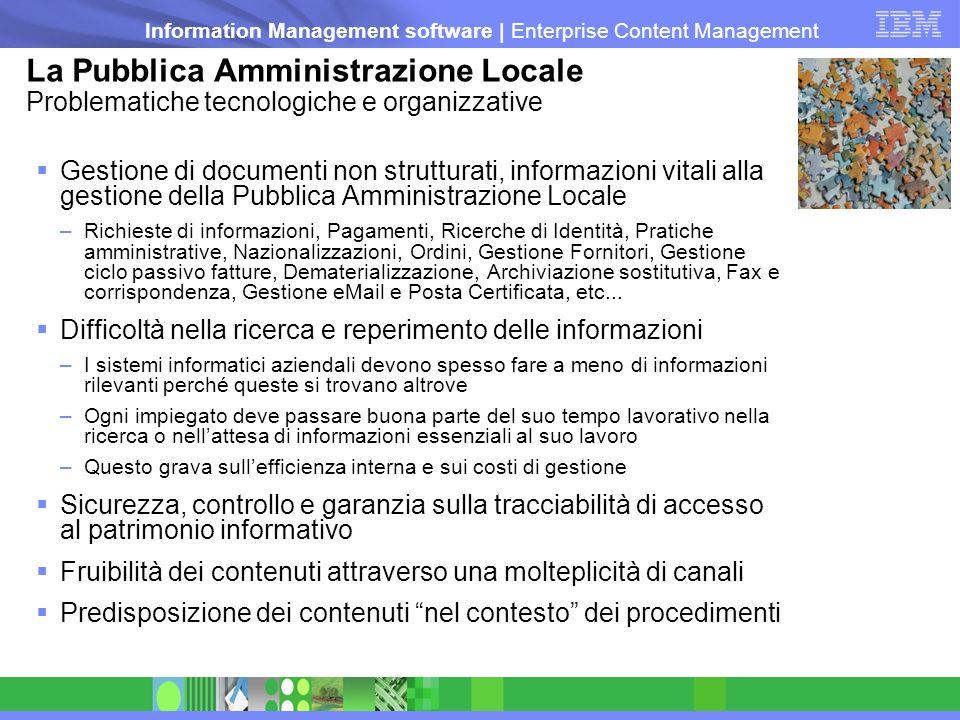 La Pubblica Amministrazione Locale Problematiche tecnologiche e organizzative