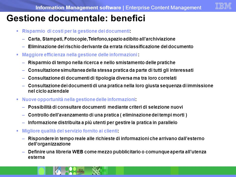 Gestione documentale: benefici