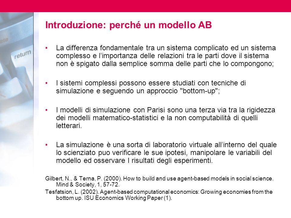 Introduzione: perché un modello AB