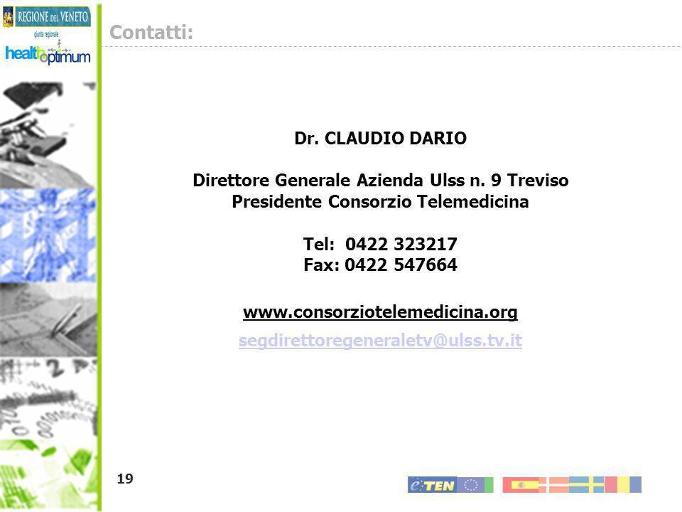 Contatti: Dr. CLAUDIO DARIO