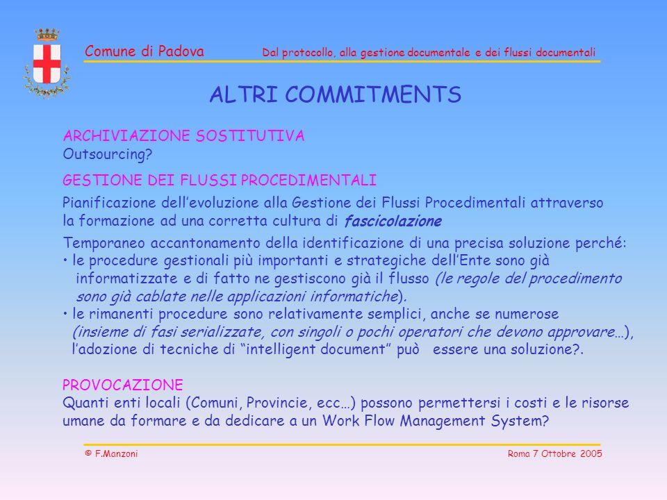 ALTRI COMMITMENTS ARCHIVIAZIONE SOSTITUTIVA Outsourcing