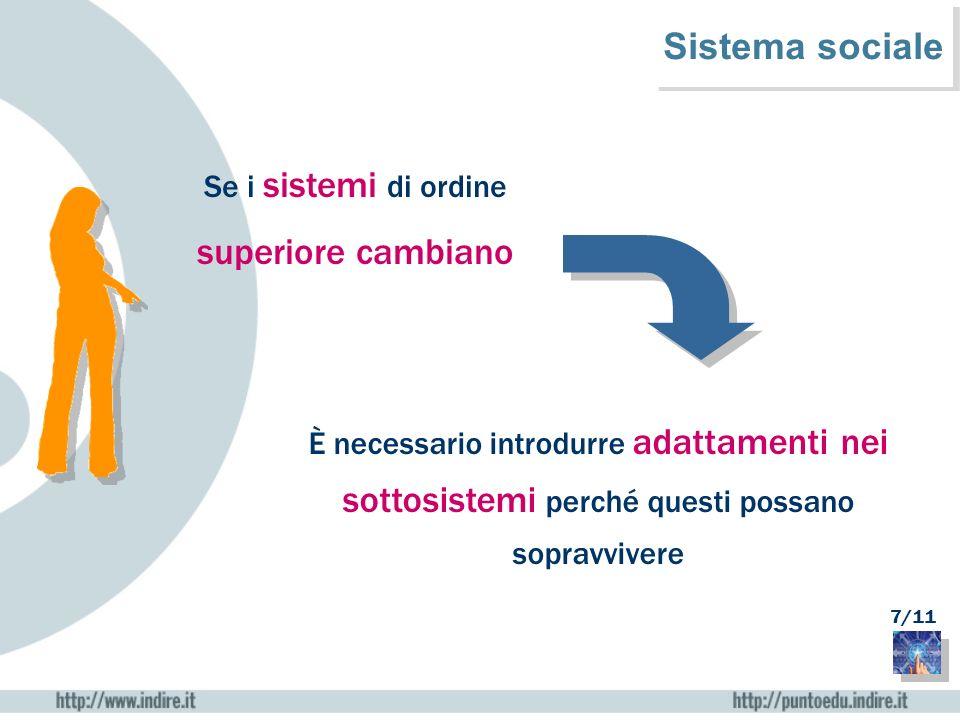 Sistema sociale superiore cambiano Se i sistemi di ordine