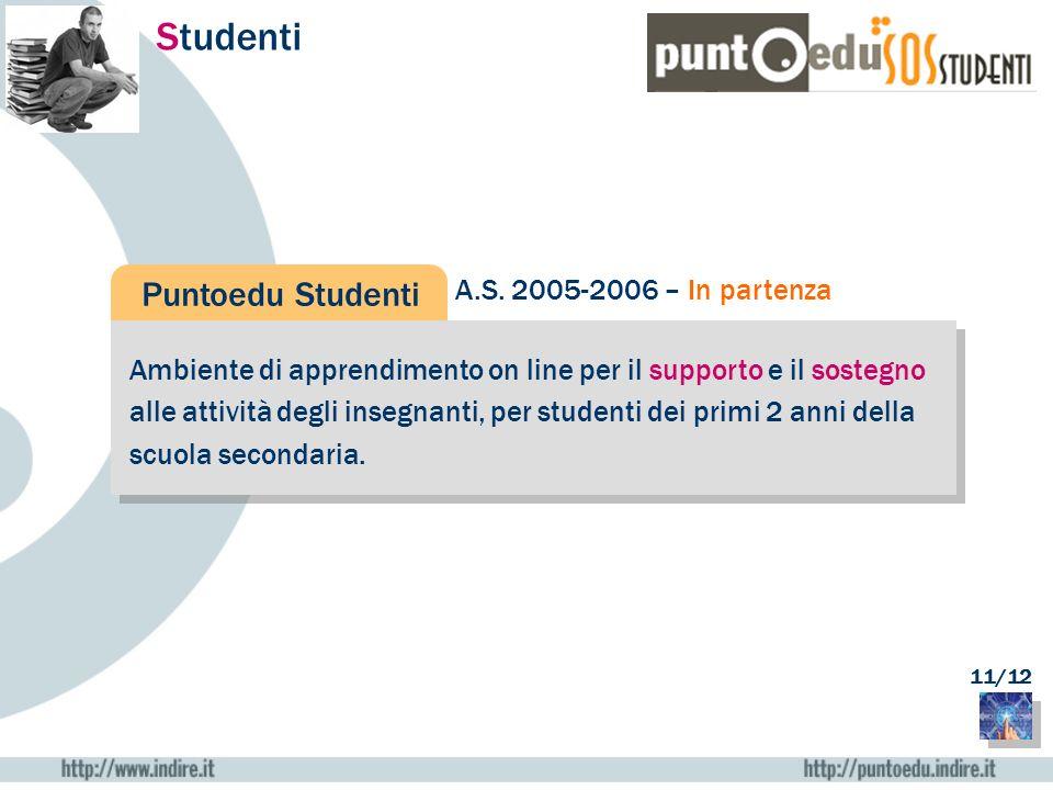 Studenti Puntoedu Studenti A.S. 2005-2006 – In partenza