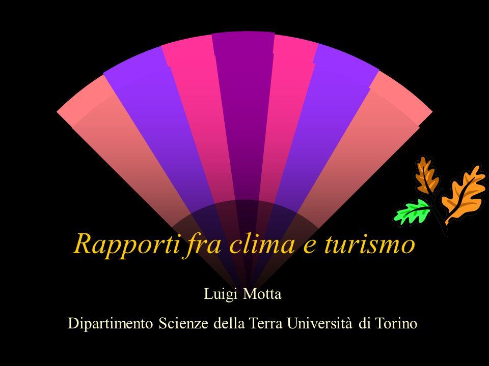 Rapporti fra clima e turismo