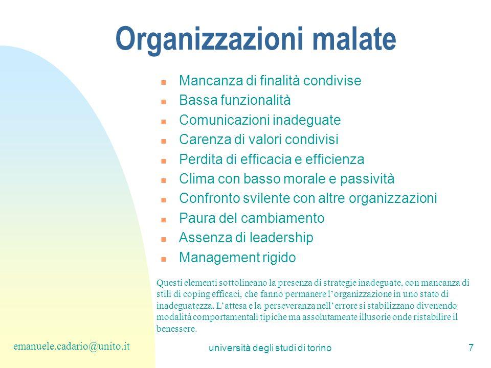 Organizzazioni malate