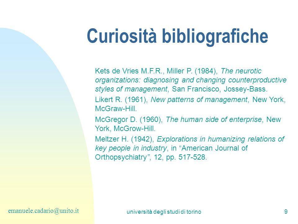 Curiosità bibliografiche