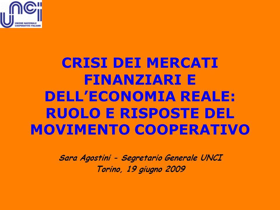 Sara Agostini - Segretario Generale UNCI Torino, 19 giugno 2009