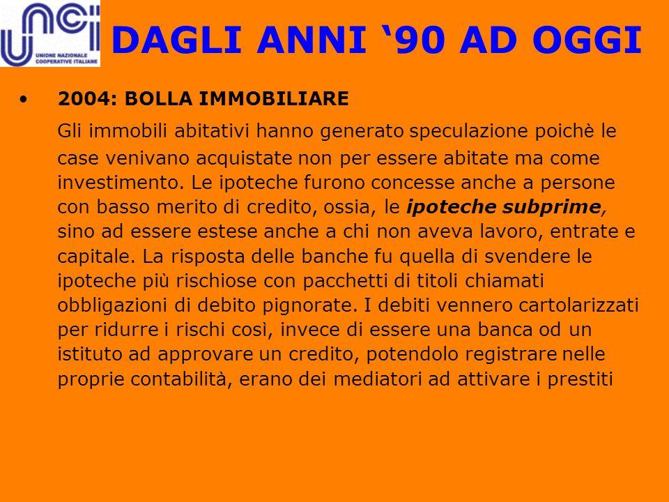 DAGLI ANNI '90 AD OGGI 2004: BOLLA IMMOBILIARE.