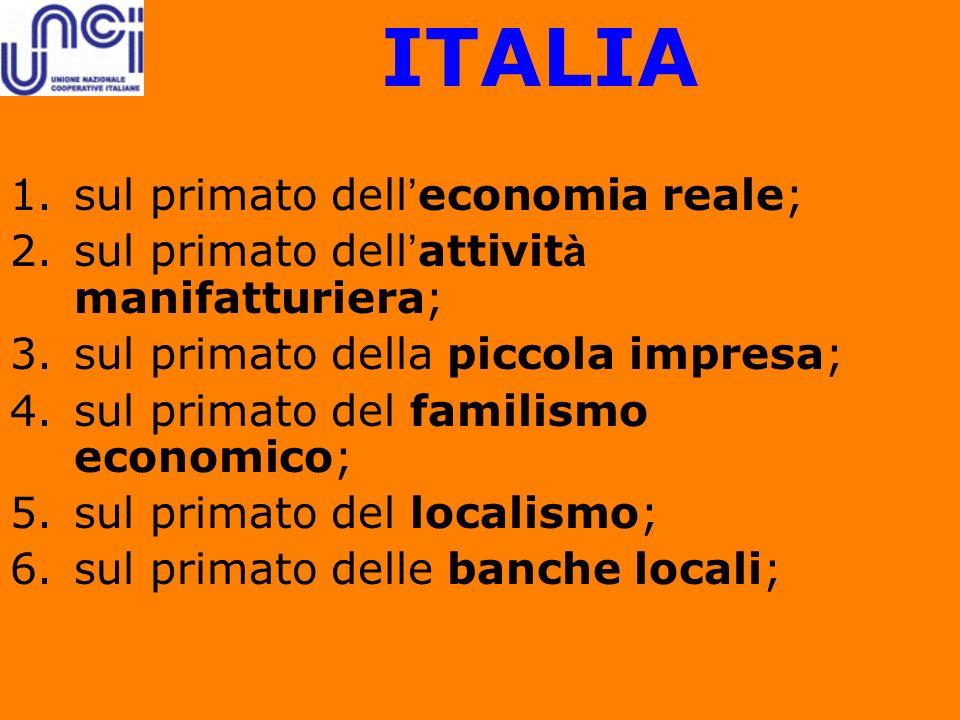 ITALIA sul primato dell'economia reale;