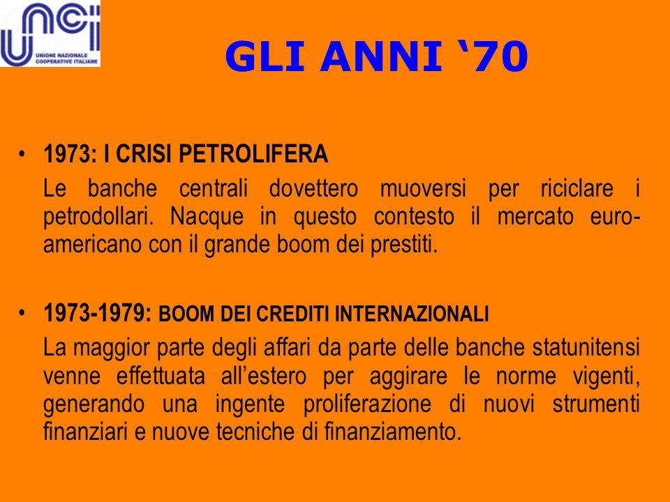 GLI ANNI '70 1973: I CRISI PETROLIFERA