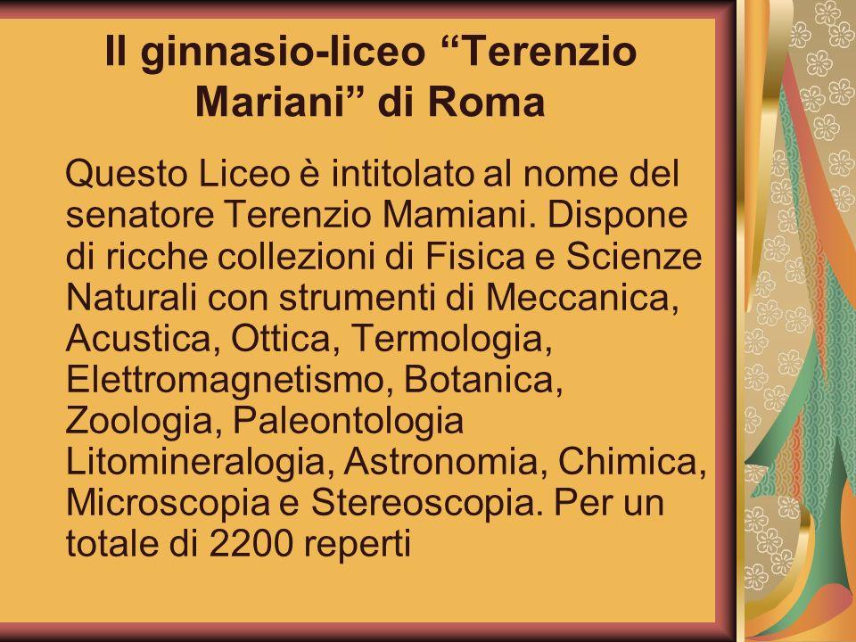 Il ginnasio-liceo Terenzio Mariani di Roma
