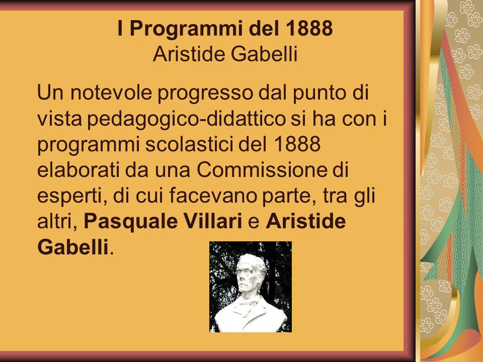 I Programmi del 1888 Aristide Gabelli