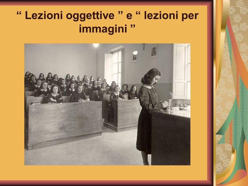 Lezioni oggettive e lezioni per immagini