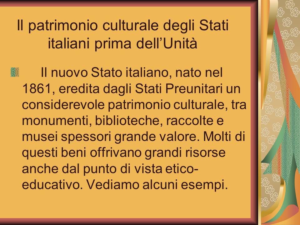 Il patrimonio culturale degli Stati italiani prima dell'Unità