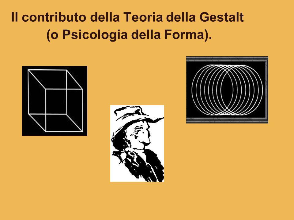 Il contributo della Teoria della Gestalt (o Psicologia della Forma).