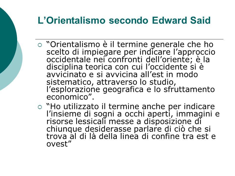 L'Orientalismo secondo Edward Said