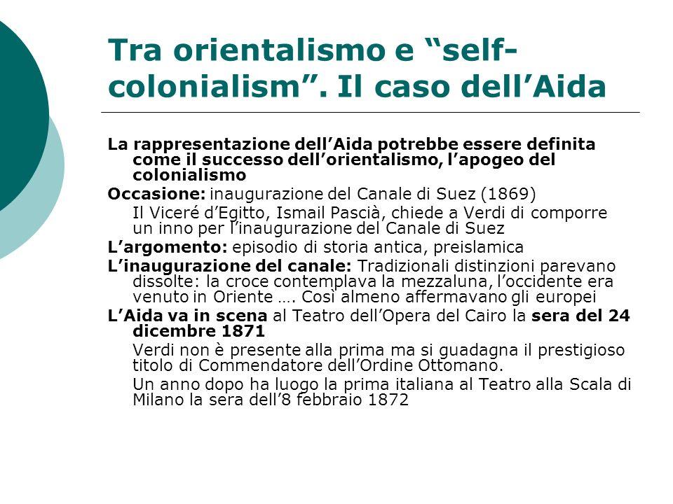 Tra orientalismo e self-colonialism . Il caso dell'Aida