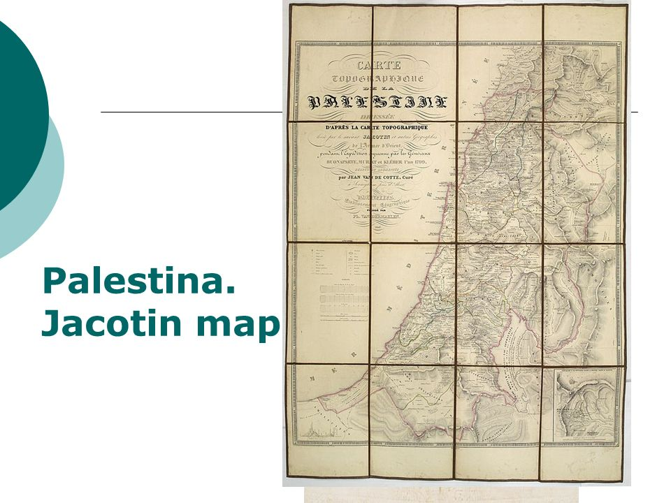 Palestina. Jacotin map