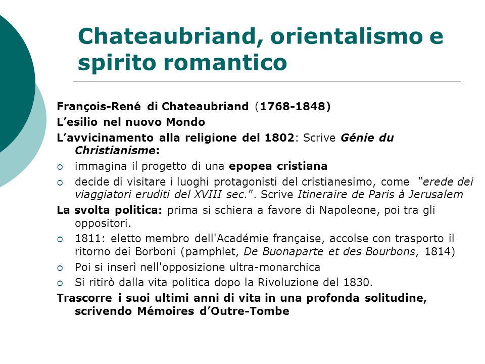 Chateaubriand, orientalismo e spirito romantico