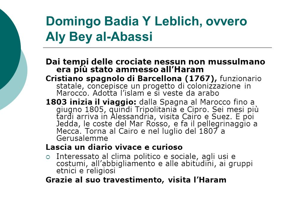 Domingo Badia Y Leblich, ovvero Aly Bey al-Abassi