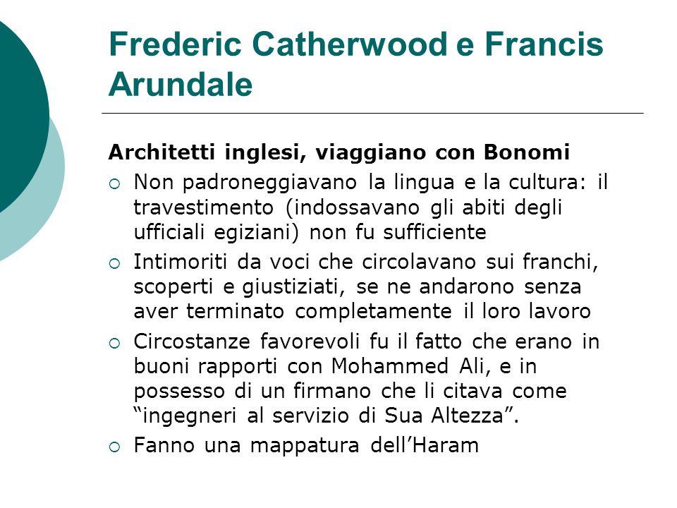 Frederic Catherwood e Francis Arundale